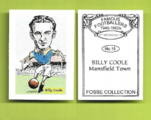 Mansfield Town Billy Coole 15 (FC)